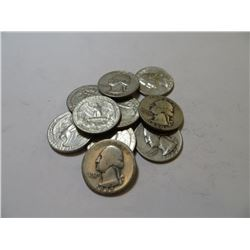10 pcs Washington Quarters-90% Silver