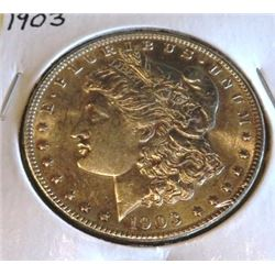 1903 P AU/BU Better Date Morgan Silver Dollar