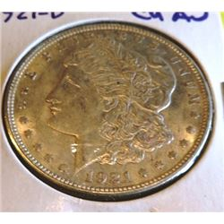 1921 D CH AU Better Date Morgan Dollar