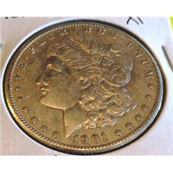 1901 s XF Cleaned Morgan Dollar