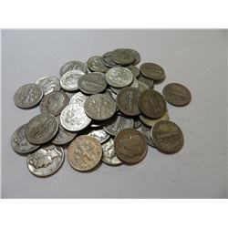50 pcs. Mercury and Roosevelt Silver DImes 90%