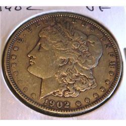 1902 P VF Grade Morgan Silver Dollar