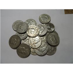 20 pcs Franklin Half Dollars 90% Silver