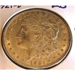 1921 D AU Grade Morgan Silver dollar