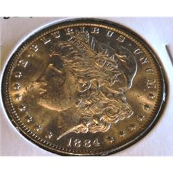 1884 O Bu Grade Morgan Silver Dollar