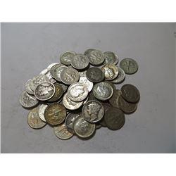 50 pcs. Mercury / Roosevelt 90% Silver Dimes