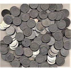 (100) Random Date and Grade Mix V Nickels