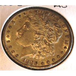 1883 S Better Date AU Grade Morgan Dollar
