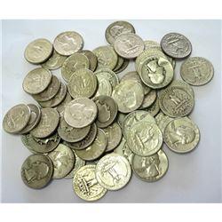 (40) Washington Quarter Dollars -90% Silver