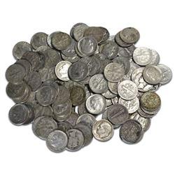 (50) $5 Face Value Roosevelt Dimes -90% Silver