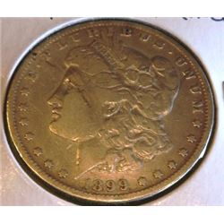 1899 P Better Date Cleaned Morgan Silver Dollar
