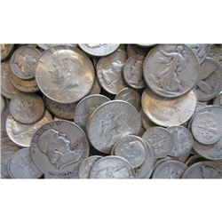 $10 Face Value -90% Mixed Silver Coinage