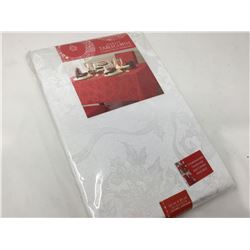 Damask Tablecloth Christmas Ribbons (60in x 84in)