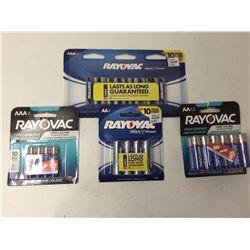 Assorted RayovacBatteries