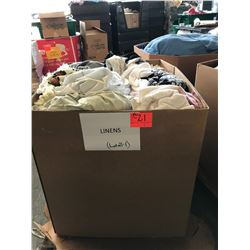 Contents of Large Tri-Wall Box: Linens