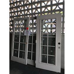 3 Glass Door Panels