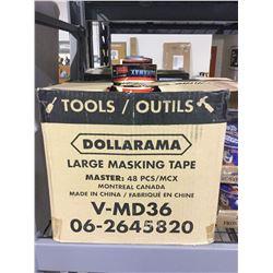 Case of 48 Duramax Large Masking Tape Rolls
