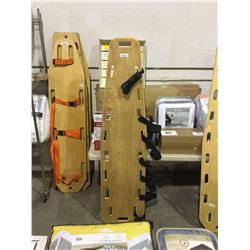 Wooden Backboard Stretcher w/ Straps