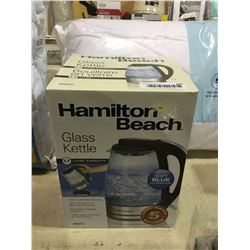 Hamilton Beach Glass Kettle 1.7L Capacity