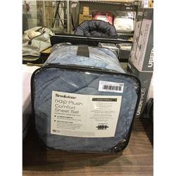 Brookstone Queen Size Nap Plush Comfort Sheet Set