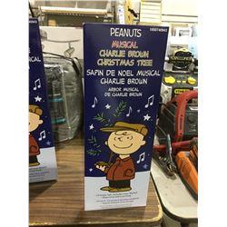 "Peanuts Musical Charlie Brown Christmas Tree 24"""