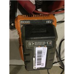 Ridgid 18V Charger w/ Battery -RETURN, SOLD AS IS
