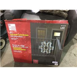 """Home Accents Holiday 24"""" Color Changing LED Snowflake"""