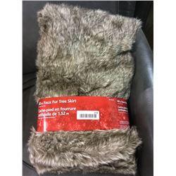"""60"""" Faux Fur Tree Skirt - Brown"""