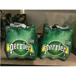 Perrier Carbonated Natural Spring Water (6 x 500mL) Lot of 2