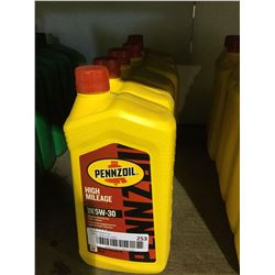 LOT OF Pennzoil High Mileage SAE 5W-30 Motor Oil (6 x 946mL)