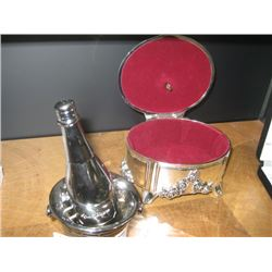 JEWELRY MUSIC BOX AND SALT AND PEPPER SHAKER
