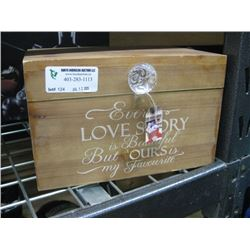LOVE STORY WOODEN BOX