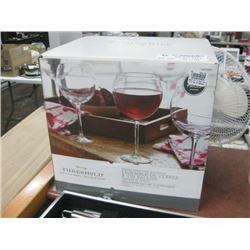 THRESHOLD SET OF 4 BALLOON WINE GLASSES
