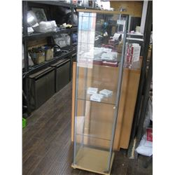 SQUARE GLASS DISPLAY CABINET