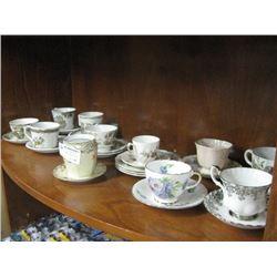SHELF OF TEA CUPS