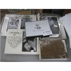 SET OF 5 ASSORTED PICTURE FRAMES AND ALBUMS