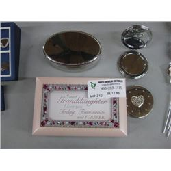 SET OF 2 JEWELRY BOX AND SET OF 2 COMPACT MIRRORS