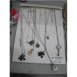 BOARD OF DISPLAY NECKLACES