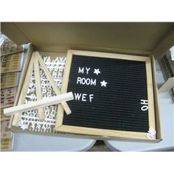 FABRIC LETTER BOARD WITH STAND