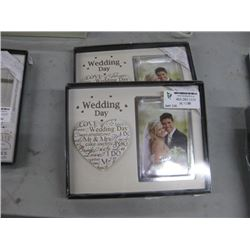 SET OF 2 WEDDING DAY PICTURE FRAMES