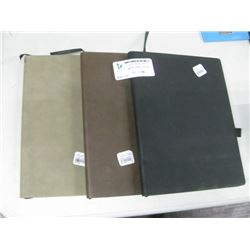 SET OF 3 VEGAN LEATHER NOTEBOOK ASSORTED COLORS RETAIL $ 30.00 EA