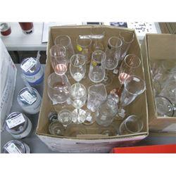 BOX OF WINE GLASSES
