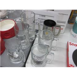 SET OF 6 ASSORTED GLASS MUGS