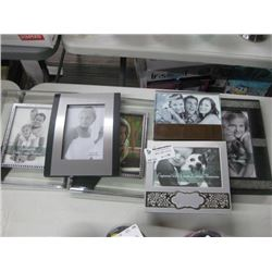 SET OF 6 ASSORTED PICTURE FRAMES