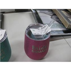 SWIG 12 OZ WINE BRIDE CUP WITH STRAW