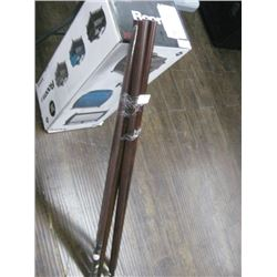 4FT WOODEN DRAPERY RODS 4PC
