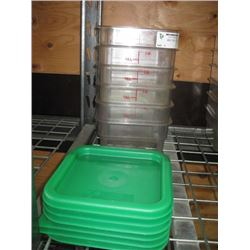 SET OF 6 CAMBRO FOOD STORAGE CONTAINER TWO QUART WITH LIDS