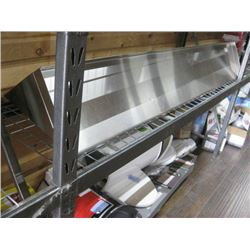 72 INCH STAINLESS STEEL OVER SHELF