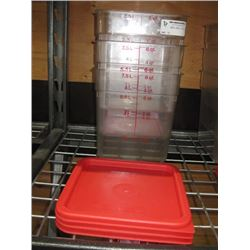 SET OF 3 CAMBRO FOOD STORAGE CONTAINER EIGHT QUART WITH LIDS