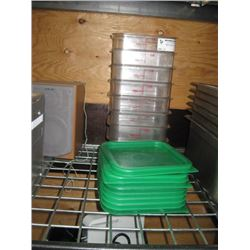 SET OF 8 CAMBRO FOOD STORAGE CONTAINER TWO QUART WITH LIDS